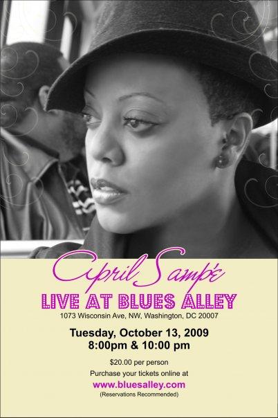 10.13.09 - april at blues alley