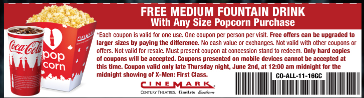 Coupons for cinemark movie theater