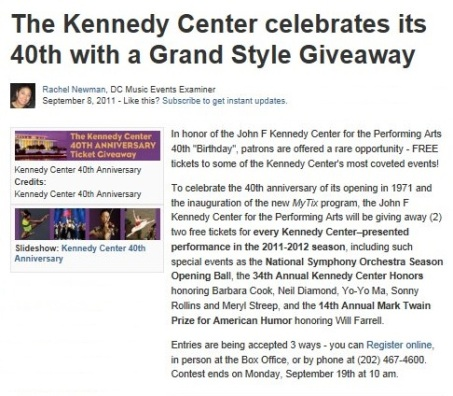 09.08.11 - kennedy center 40th tix giveaway cropped